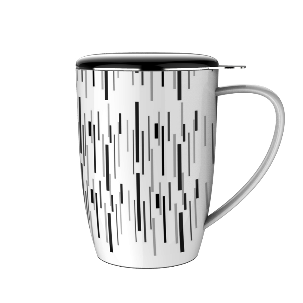 12 Ounce Custom Printed Porcelain Tea Mug with Infuser