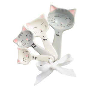 Set of 4 Ceramic Cat Measuring Spoon