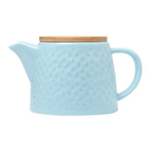 Light Blue Ceramic Teapot With Infuser