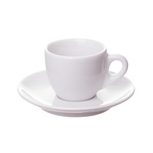 3 OZ Ceramic Porcelain Espresso Coffee Cup and Saucer Set