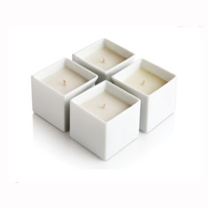 Square Shaped Ceramic Candle Jar