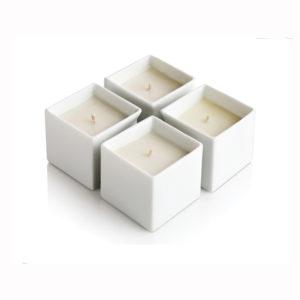 Square Shaped Ceramic Candle Jar