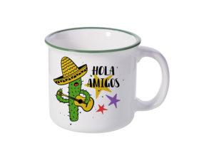Customized camping ceramic enamel mug