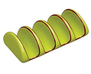 Factory Direct Green Mexican Ceramic Taco Holder Plate