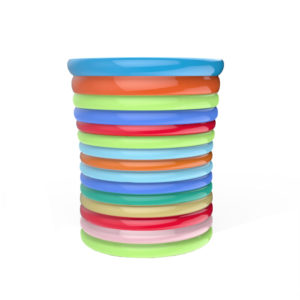 Rainbow Ceramic Utensil Crock Holder Large Size for Kitchen Storage