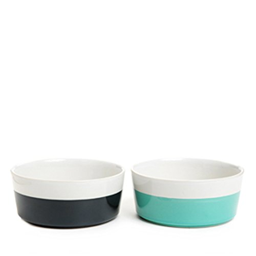 Two Tones Dipping Color Ceramic Pet Dog Cat Feeding Bowl