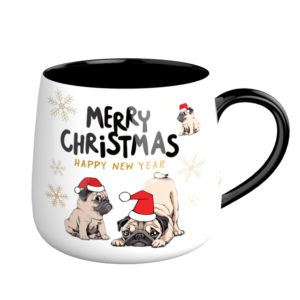 12OZ Christmas Animal Ceramic Dog Design Mug