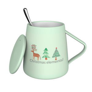 Newly Designed Christmas Series BRT Ceramic Coffee Water Mug With Spoon
