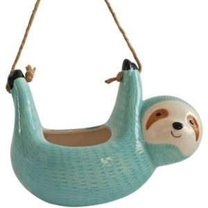 Ceramic Sloth Hanging Flower Planter Pot