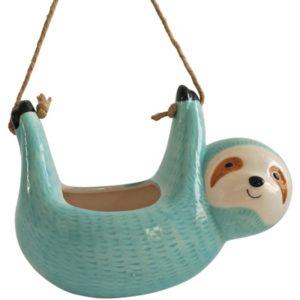 Ceramic Sloth Hanging Flower Planter Pot