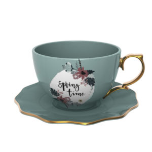 Spring Time Ceramic Cup & Saucer Set Tea Cups