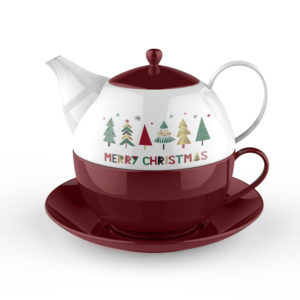 Merry Christmas Tea For One Teapot