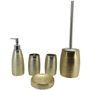 Electroplating Golden Color Ceramic Bathroom Accessories