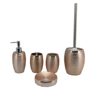Electroplating Rose Gold Ceramic Bathroom Set