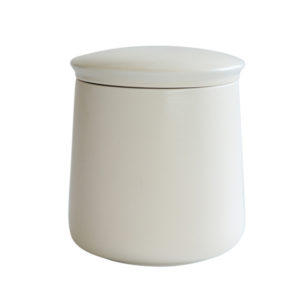Matt White Glazed Ceramic Candle Jar with lid