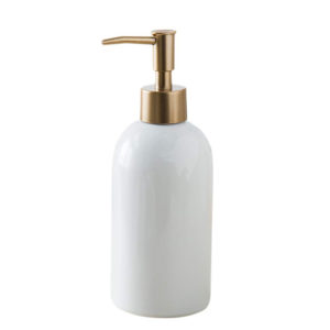 White 400ml Ceramic Soap Dispenser