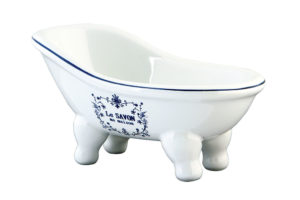 Ceramic Mini Bathtub Shaped Soap Dish