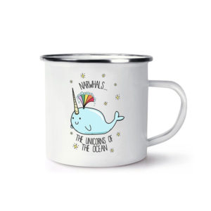 Custom Design Printed Stainless Steel Enamel Mug