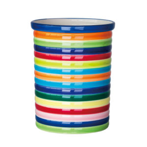 Rainbow Design Large Size Ceramic Utensil Holder
