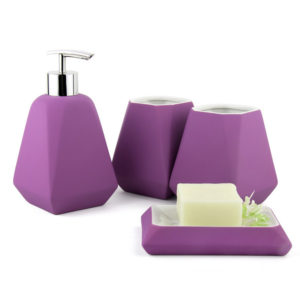 Rubber Paint Ceramic Bathroom Accessories