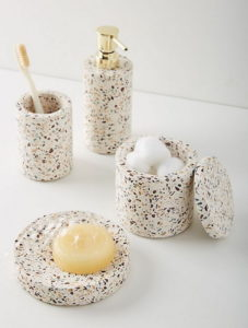 Terrazzo Style Ceramic Bathroom Set Accessory