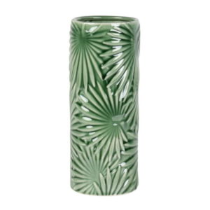 Green Leaf Shaped Ceramic Tiki Mug