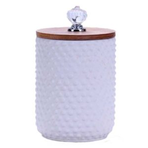 2020 Newly Released Ceramic Canister With Bamboo Lid