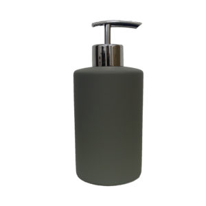 Grey Rubber Paint Coating Ceramic Soap Dispenser