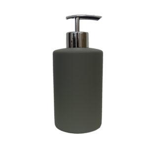 Grey Rubber Paint Coating Ceramic Soap Dispenser