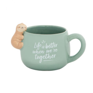 Lovely 12oz Teal Ceramic Sloth Mug