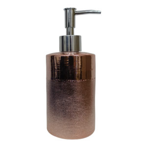 Rose Golden Horizontal Pattern Ceramic Liquit Soap Dispenser