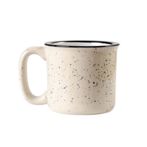Color Glazed Dot Speckled Design Ceramic Camping Campfire Enamel Coffee Mug