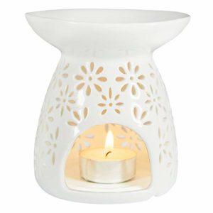 Hot Sale Hollow Ceramic Tea Light Holder Aromatherapy Essential Oil Burner